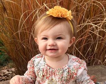 Mustard Baby Headband, Baby Headbands, Newborn Headbands, Baby Girl Headbands, Infant Headbands, Baby Bows