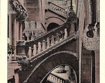 Albany, New York, Capitol, Great Western Staircase - Postcard - Vintage Postcard - Unused (L)