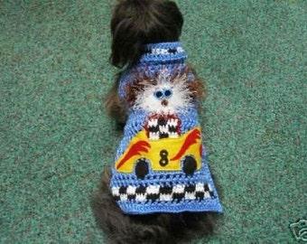 Dog sweater - NASDOG Max - RACE FANS - up to 20 pound dogs