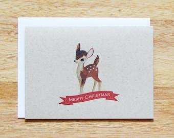 Fawn Holiday Christmas Greeting Card