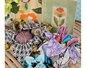 SALE--VALORI WELLS Petal Pouches medium sewing card for pouches and pincushion