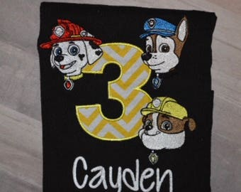 Paw pups birthday shirt