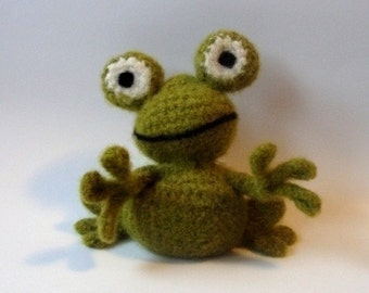 PATTERN PDF Crocheted and Felted Frog Amigurumi Pattern