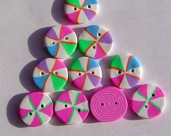 Gingerbread House Needlepoint Candy Buttons