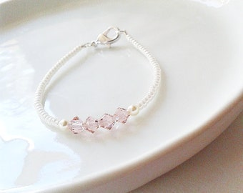 Innocence Swarovski Pierandpineco Bracelet Beautiful on little wrists Custom Made Custom Package for Special Occasions Order your Innocence