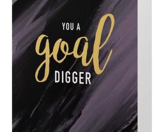 Goal Digger card