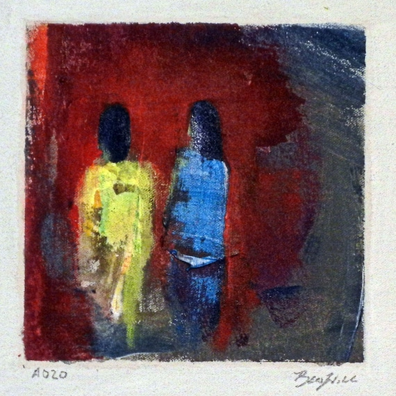 Daily Painting  A020 Small Abstract Study Painting by BenWill