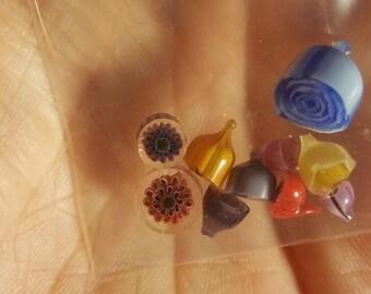 3d flowers glass murrini Coe 104 #12 murrine