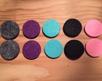 Ten (10) Felt pads for 30mm Stainless Steel Diffuser Lockets, Essential Oil Jewery, Aromatherapy Accessory