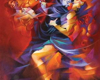 Red Tango by Hendrick Gil - Canvas Art Print (12x14)