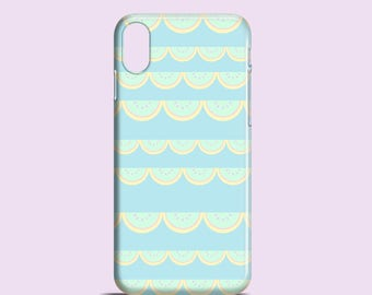 Watermelons lace phone case / iPhone X case, sea green iPhone 8, iPhone 7, iPhone 7/8 Plus, iPhone 6, iPhone 5/5S/se, Samsung Galaxy S7, S6