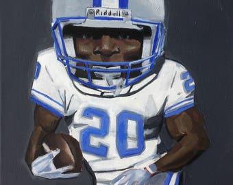 Barry Sanders, Detroit Lions Painting
