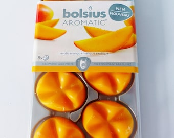 8 pebbles melting wax scented mango exotic 100 hours of fragrance inside Bolsius Aromatic roller in melt