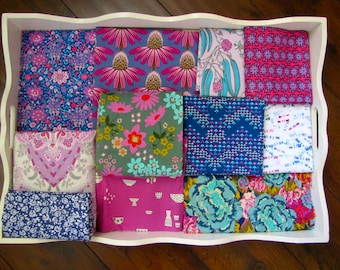Indigo & Pink Patchwork and Minky Blanket Made to Order