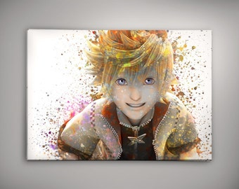Roxas, Kingdom Hearts, Kingdom Hearts Poster, Kingdom Hearts Art,