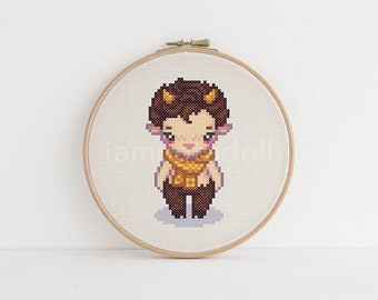 Faun - a cute pixel art counted cross stitch pattern