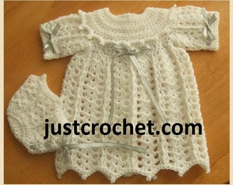 Christening Gown and Bonnet Baby Crochet Pattern (DOWNLOAD) 67