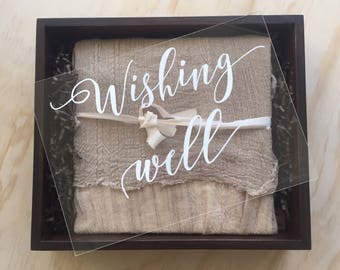 Wishing Well Sign | Cards and Gifts | Acrylic Wedding Sign | Acrylic wedding sign | wedding sign | reception signage | Signed by Row