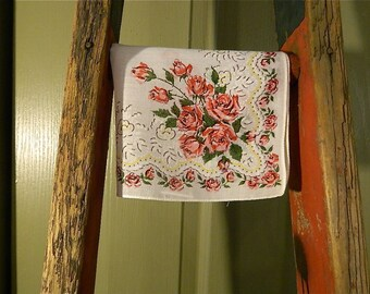 "Vintage Hankie/Hanky, Miss America Style Rose Bouquets and Rose Vining: ""Roses For Miss America"""