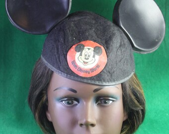 "Vintage Walt Disney World Made in USA by Benay Albee Mickey Mouse Ears - ""Jimmy"""