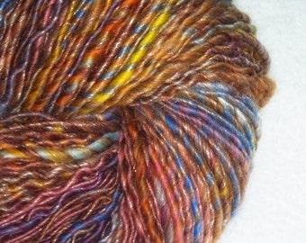 Mother's Dream Luxury Art Yarn - 175 yards - Handspun - Single-Ply - Worsted to Bulky Weight - Knitting - Crochet - Fiber Arts, etc.