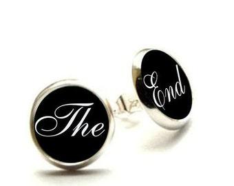 Movie Film Earrings, Film The End, The End Earrings, Film Jewelry, Film Hypoallergenic Earrings
