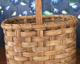 Handmade Basket,  Primitive Decor, Market Basket, Fruit Basket , Garden Basket, Made in USA