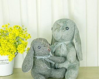Stuffed Animal – Flap-eared Bunny | Rabbit Toy PDF Sewing Pattern | Softie Tutorial