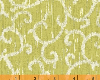 SALE - Ibiza - Scroll Celery by Rosemarie Lavin from Windham Fabrics