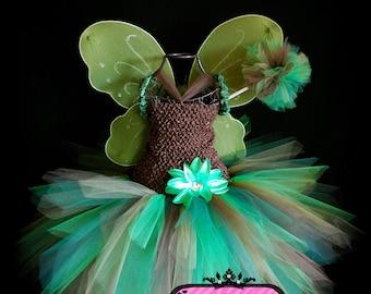 Woodland Fairy Tutu Dress/Costume - infant tutu, Halloween tutu, pixie tutu, dance tutu, photo prop tutu, birthday tutu, baby shower tutu