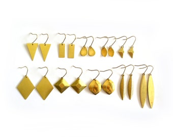 RAW BRASS Geometric Collection - 11 Different Styles