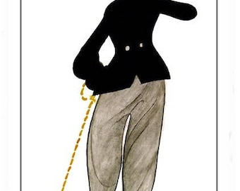 Charlie Chaplin fully lined