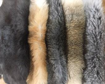 Rabbit Fur Pelt Natural Assorted Earth-tones Genuine Leather Large Single Hide TA-31642 (Sec. 1)