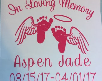 Baby: In Loving Memory Decal