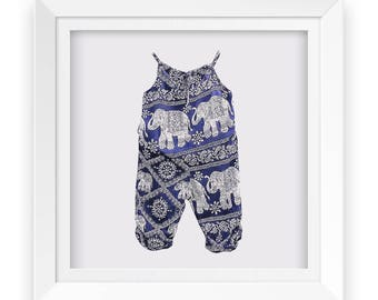 Lovely elephant print spaghetti strap top and harem trousers