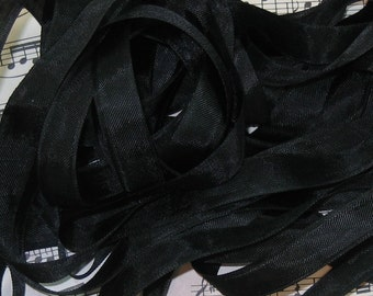 Black Seam Binding Silky Rayon Seam Binding Ribbon - 9 yards PSS 0056
