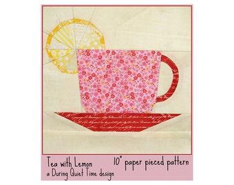 Tea with Lemon Paper Pieced Pattern