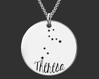 Leo Zodiac Necklace | Leo Constellation Necklace | Astrology Necklace | Personalized Gifts | Korena Loves