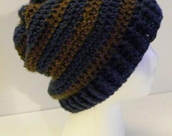 CROCHET PATTERN - Boyfriend Striped Hat