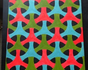 24X18 Geometric Painting