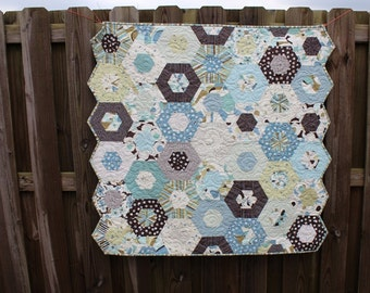 Baby Boy Quilt / Quilt / Quilts for Sale / Boy Quilts / Blue Brown Quilts / Crib Bedding  / Nursery / Baby Shower /  Kids / Made to Order