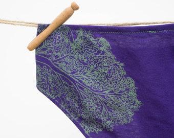 Kale Yeah! Women's Handmade Underwear - Women's 10 - Ready to Ship