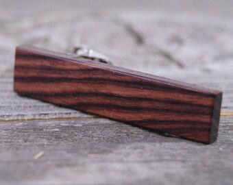 Wooden Tie Clip from Brazilian Kingwood
