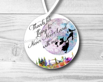 Peter Pan Inspired Favor Tag Printable 2.5 inch Favor Tags Instant Download - Peter Pan Favor Tag - Peter Pan Party - Never Never Land