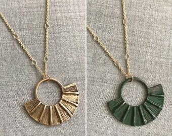 Boho-style Faux-fringe Metal Necklace