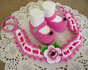 CROCHET PATTERN BABY Crochet Shoes and Headband Pattern - Ruby Baby Set - baby hairband crochet pdf patterns Instant Download