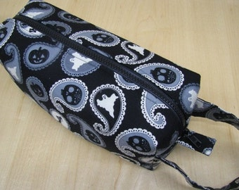 Ghostly Ghost Bag embroidery inside Cosmetic Bag Makeup Bag LARGE