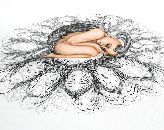 "Dream- 23"" H x 38"" W original drawing"