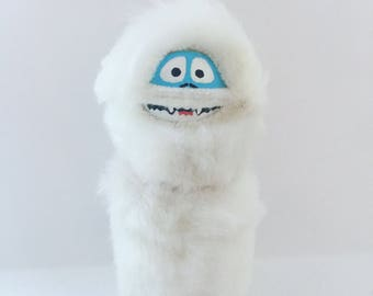 Bumble the Abominable Snowman Peg Doll Ornament, Christmas Gifts, Peg Doll Ornament