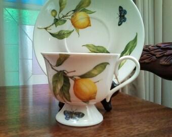 SALE Nantucket Lemon Cup and Saucer